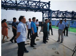 Leading Group of Cangzhou Standing Committee,Deputy Mayor Chunjun HE on-site investigated the situation of production and construction